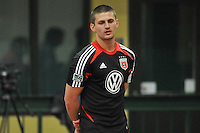 D.C. United defender Perry Kitchen during the pre-season fitness training session at George Manson University before departing for Bradenton Florida to get ready for the 2013 season, Friday January 18, 2013.