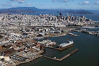 Aerial photograph Pier 70 San Francisco California