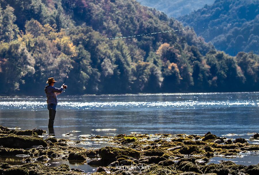 Flyfishing on Drina River, Serbia