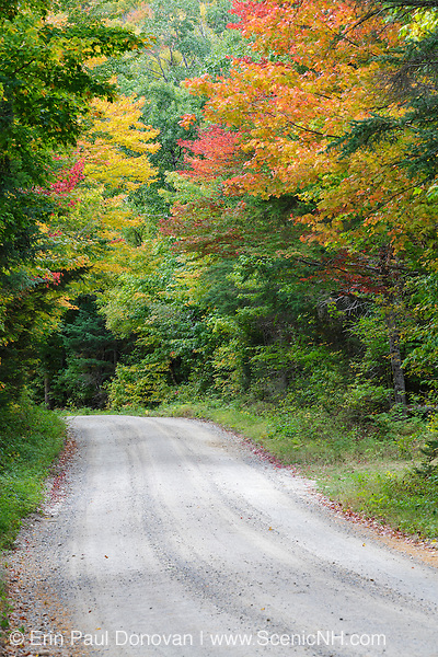 Zealand Road in Bethlehem, New Hampshire USA during the autumn months.