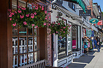 Shops along Main Street in Concord, MA