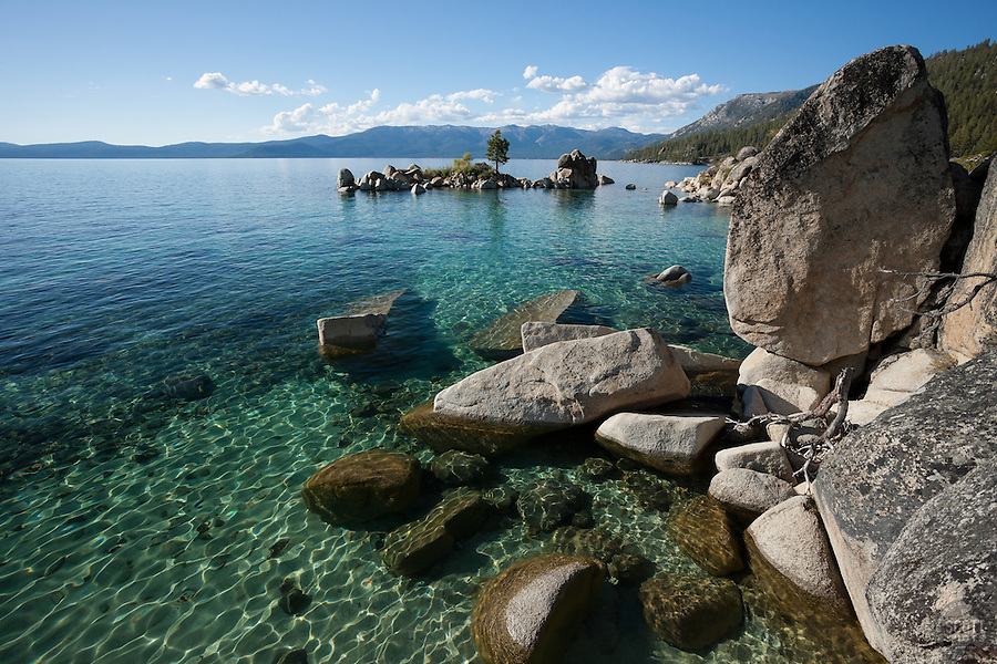 """Boulders at Lake Tahoe 35"" - These boulders were photographed along the shore at Whale Beach, Lake Tahoe."
