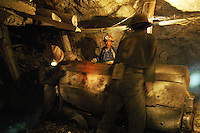 Miners working in an Cerro Rico, Potosi, Bolivia