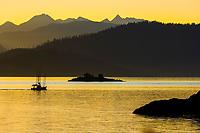 Commercial trolling vessel passes through Sitka Sound, southeast, Alaska.