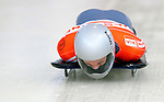 17 December 2010: Michi Halilovic sliding for Germany, finishes in 7th place at the Viessmann FIBT Skeleton World Cup Championships in Lake Placid, New York, USA. Mandatory Credit: Ed Wolfstein Photo
