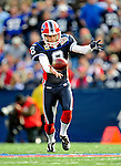 1 November 2009: Buffalo Bills' punter Brian Moorman kicks during the second quarter against the Houston Texans at Ralph Wilson Stadium in Orchard Park, New York, USA. The Texans defeated the Bills 31-10. Mandatory Credit: Ed Wolfstein Photo