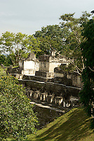 North Acropolis at the Maya ruins of Tikal, El Peten, Guatemala. Tikal is a UNESCO World Heritage Site....