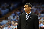 24 October 2014: Fayetteville State head coach Alphonza Kee. The University of North Carolina Tar Heels played the Fayetteville State University Broncos in an NCAA Division I Men's basketball exhibition game at the Dean E. Smith Center in Chapel Hill, North Carolina. UNC won the exhibition 111-58.