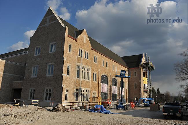 Stinson-Remick Hall under construction, April 2009..Photo by Matt Cashore/University of Notre Dame
