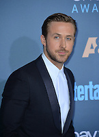 Ryan Gosling at the 22nd Annual Critics' Choice Awards at Barker Hangar, Santa Monica Airport. <br /> December 11, 2016<br /> Picture: Paul Smith/Featureflash/SilverHub 0208 004 5359/ 07711 972644 Editors@silverhubmedia.com