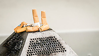 Cigarette Ends in an Ashtray - Sept 2014