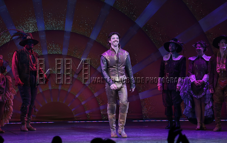 Christian Borle during the Broadway Opening Night Curtain Call for 'Something Rotten' at the St. James Theatre on April 22, 2015 in New York City.