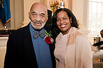 WATERBURY, CT-021517JS05---2017 African American Mayor for the Day Hubie G. Williamson, Jr. with last years African American Mayor of the Day and National Teacher of the Year Jahana Hayes during a ceremony at Waterbury City Hall. <br /> Jim Shannon Republican-American