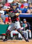 6 March 2011: Atlanta Braves' catcher David Ross in action during a Spring Training game against the Washington Nationals at Space Coast Stadium in Viera, Florida. The Braves shut out the Nationals 5-0 in Grapefruit League action. Mandatory Credit: Ed Wolfstein Photo