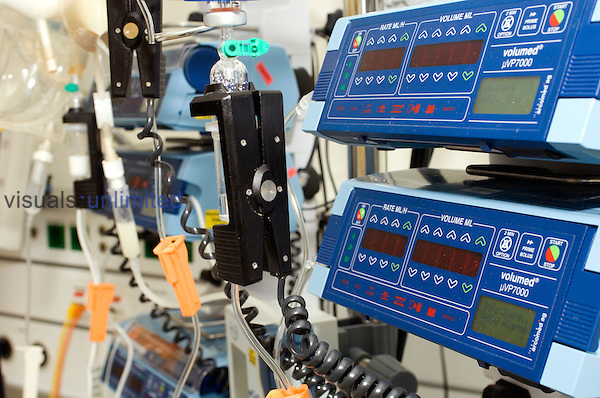 Patient monitoring equipment for endoscopic procedures. Royalty Free