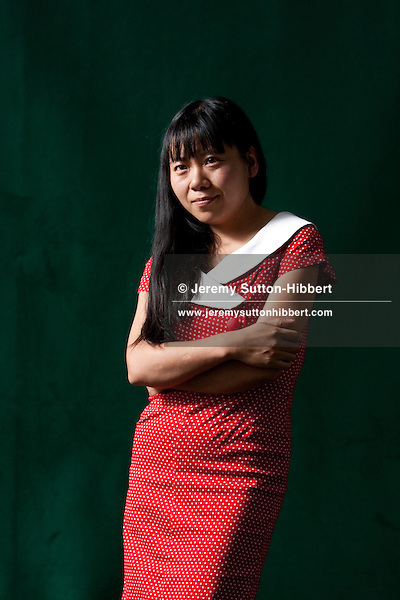 Xiaolu Guo, Chinese author, at the Edinburgh International Book Festival, Edinburgh, Scotland on Wednesday 26th August 2009. This year is the 26th Edinburgh Book Festival in the city designated by UNESCO as the first City of Literature.