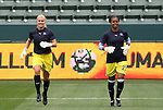 29 March 2009: Los Angeles' Val Henderson (1) and Karina LeBlanc (CAN) (23). Los Angeles Sol defeated the Washington Freedom 2-0 at the Home Depot Center in Carson, California in a regular season Women's Professional Soccer game. The game was the WPS Inaugural game.