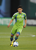Seattle Sounders forward Freddy Montero (17) .  Seattle Sounders defeated DC United 1-0 at RFK Stadium, Thursday July 15, 2010.