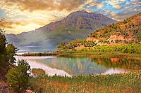 Dalyan Çayı River delta . Mediterranean coast Turkey