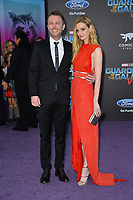 Chris Hardwick &amp; Lydia Hearst at the world premiere for &quot;Guardians of the Galaxy Vol. 2&quot; at the Dolby Theatre, Hollywood. <br /> Los Angeles, USA 19 April  2017<br /> Picture: Paul Smith/Featureflash/SilverHub 0208 004 5359 sales@silverhubmedia.com