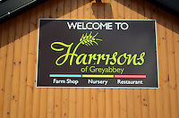 Signage, Harrisons Restaurant, Greyabbey, Co Down, 201207280453..Copyright Image from Victor Patterson, 54 Dorchester Park, Belfast, UK, BT9 6RJ..Tel: +44 28 9066 1296.Mob: +44 7802 353836.Voicemail +44 20 8816 7153.Skype: victorpattersonbelfast.Email: victorpatterson@me.com.Email: victorpatterson@ireland.com (back-up)..IMPORTANT: If you wish to use this image or any other of my images please go to www.victorpatterson.com and click on the Terms & Conditions. Then contact me by email or phone with the reference number(s) of the image(s) concerned.