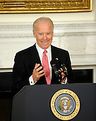United States Vice President Joe Biden delivers remarks to the National Governors Association during a meeting in the White House State Dining Room, on Monday, February 27, 2012, in Washington, DC. .Credit: Leslie E. Kossoff / Pool via CNP
