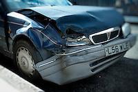 Crashed and Abandoned Car