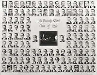 1958 Yale Divinity School Senior Portrait Class Group Photograph