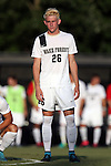 26 August 2016: Wake Forest's Sam Raben. The Wake Forest University Demon Deacons hosted the Saint Louis University Billikens in a 2016 NCAA Division I Men's Soccer match. SLU won the game 1-0.