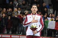 SHORT TRACK: TORINO: 15-01-2017, Palavela, ISU European Short Track Speed Skating Championships, Podium 1000m Men, Shaolin Sandor Liu (HUN), ©photo Martin de Jong
