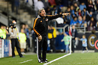 Houston Dynamo goalkeeper coach Tim Hanley. The Houston Dynamo defeated the Philadelphia Union 1-0 during a Major League Soccer (MLS) match at PPL Park in Chester, PA, on September 14, 2013.