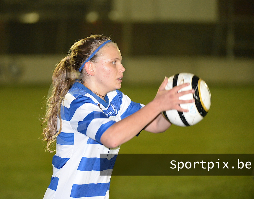 20140326 - AALTER , BELGIUM : Gent Marijke Philips pictured during the soccer match between the women teams of Club Brugge Vrouwen  and AA Gent  Ladies , on the 21th matchday of the BeNeleague competition Friday 14 March 2014 in Aalter. PHOTO DAVID CATRY