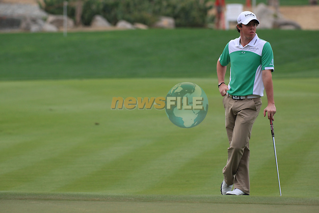 Rory McIlroy on the 9th on day two of the Abu Dhabi HSBC Golf Championship 2011, at the Abu Dhabi golf club, UAE. 21/1/11..Picture Fran Caffrey/www.golffile.ie.