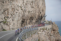 peloton along the Ligurian Sea<br /> <br /> 108th Milano - Sanremo 2017