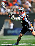 24 August 2008: Denver Outlaws' Midfielder Brian Langtry in action against the Rochester Rattlers at the Championship Game of the Major League Lacrosse Championship Weekend at Harvard Stadium in Boston, MA. The Rattles took control of the second half to defeat the Outlaws 16-6 and take the league honor for the 2008 season...Mandatory Photo Credit: Ed Wolfstein Photo