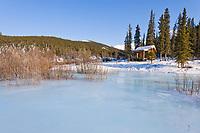 Windy Gap Recreational cabin, White Mountains National Recreation Area, interior, Alaska.