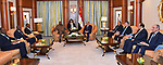 Egyptian President Abdel Fattah al-Sisi meets with President of Burkina Faso, Rock Mark Cabore, in Riyadh on May 21, 2017. Photo by Egyptian President Office