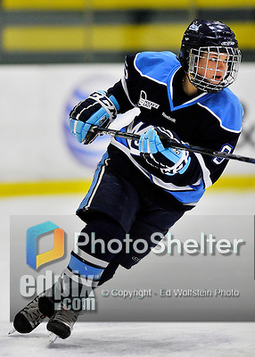 23 November 2011: University of Maine Black Bears' forward Myriam Croussette, a Senior from Baie-Comeau, Quebec, in action against the University of Vermont Catamounts at Gutterson Fieldhouse in Burlington, Vermont. The Lady Bears defeated the Lady Cats 5-2 in Hockey East play. Mandatory Credit: Ed Wolfstein Photo