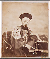BNPS.co.uk (01202 558833)<br /> Pic: Reeman&amp;Dansie/BNPS<br /> <br /> Portrait of Prince Kung.<br /> <br /> Rare photos showing some of the precious antiques looted from China's Summer Palace 156 years ago which Asian millionaires are today buying back in their droves have come to light.<br /> <br /> The images, taken by celebrated photographer Felice Beato soon after the theft, depict Ming vases, pots and bowls made for the Chinese emperor to display at the Imperial palace in Peking.<br /> <br /> The mystical building was partially destroyed by the British and French and its wealth of contents seized and taken to Europe at the end of the Second Chinese Opium War in 1860.<br /> <br /> The beautiful pieces of porcelain are the very objects the newly-rich Chinese are paying British auction houses millions of pounds for now as they attempt to buy back their lost heritage.