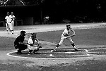 American Legion Baseball:  Bethel Park played in a round robin tournament in Allentown PA.  We did not play well and lost our first two games and went home. Mike Stewart swinging and hitting during the game - 1970.  Craig Balmford and Jack Snyder on deck.
