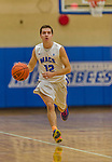 22 November 2015: Yeshiva University Maccabee Guard Jordan Hod, a Junior from Teaneck, NJ, leads a first half rush up court against the Hunter College Hawks at the Max Stern Athletic Center  in New York, NY. The Maccabees defeated the Hawks 81-71 in non-conference play, for their second win of the season. Mandatory Credit: Ed Wolfstein Photo *** RAW (NEF) Image File Available ***