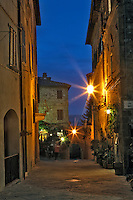 Twilight in Pienza, Italy, Tuscany.