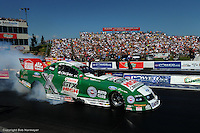 TOPEKA, KS - JUNE 1: John Force drives his Funny Car in the OReilly NHRA Summer Nationals on June 1, 2008, at Heartland Park Topeka near Topeka, Kansas.