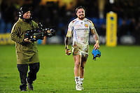 Jack Nowell of Exeter Chiefs is all smiles after the match. Aviva Premiership match, between Bath Rugby and Exeter Chiefs on December 31, 2016 at the Recreation Ground in Bath, England. Photo by: Patrick Khachfe / Onside Images