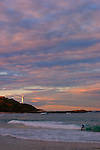 Norah Head Lighthouse at sunset, NSW