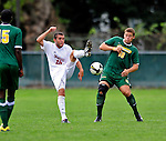 13 September 2009: University of Massachusetts Minutemen forward Mark DeSantis (18), a Senior from Stoneham, MA, in action against the University of Vermont Catamounts, during the second round of the 2009 Morgan Stanley Smith Barney Soccer Classic held at Centennial Field in Burlington, Vermont. The Catamounts and Minutemen battled to a 1-1 double-overtime tie. Mandatory Photo Credit: Ed Wolfstein Photo