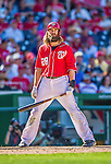 7 September 2014: Washington Nationals outfielder Jayson Werth stands at the plate during a game against the Philadelphia Phillies at Nationals Park in Washington, DC. The Nationals defeated the Phillies 3-2 to salvage the final game of their 3-game series. Mandatory Credit: Ed Wolfstein Photo *** RAW (NEF) Image File Available ***