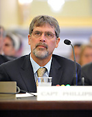 Washington, D.C. - May 5, 2009 -- Captain Richard Phillips of the MV Maersk/Alabama testifies during the United States Senate Committee on Commerce, Science, and Transportation conducts a subcommittee hearing on Piracy on the High Seas: Protecting our Ships, Crews, and Passengers in Washington, D.C. on Tuesday, May 5, 2009. .Credit: Ron Sachs / CNP.(RESTRICTION: NO New York or New Jersey Newspapers or newspapers within a 75 mile radius of New York City)