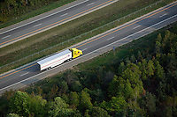 aerial photograph truck interstate I-196 near Saugutuck, Michigan