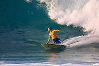 North Shore, Oahu,Hawaii.  CJ Hobgood (USA) was crowned the 2001 ASP World Professional Surfing Champion in a year that was cut short by the tourist attacks of 9/11. Photo:joliphotos.com
